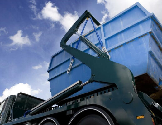container pour ses déchetss